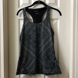 EUC Fabletics Tank in Gray Geometric. Medium